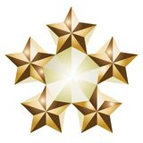 Stars. Vector illustration of 5 golden star isolated over white background Royalty Free Stock Photo