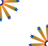 Stars. Background editable   illustration corner side with white color Royalty Free Stock Images