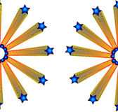 Stars. Effect illustration work both side on white background Stock Photo