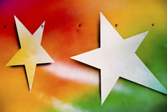 Stars. These painted stars were found at a merry-go-round Stock Image