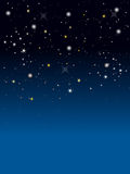 Stars. A million of stars in blue gradient background Stock Images