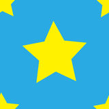 Stars. Seamless texture of the yellow stars on a blue background. Vector illustration stock illustration