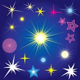 Stars. Set of stars design elements Stock Photo
