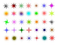 Stars. Colorful and different shaped stars Stock Image