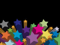 Stars. 3d stars - come out from background Royalty Free Stock Photo