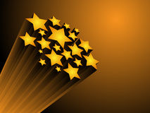 Stars. Seven 3d stars force on gradient Royalty Free Stock Images