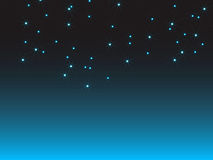 Stars. A million of stars in blue gradient background Royalty Free Stock Photography