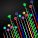 Stars. Illustration of colorful shining stars Royalty Free Stock Images