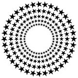 Stars. Black stars in a circle festival mood Royalty Free Illustration
