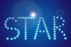 Stars. Text made on using stars Stock Photography