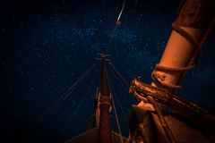 Free Stars Above The Masts And Spar Stock Photos - 115325953