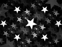 Stars abstract background black and white texture Stock Photos