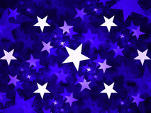 Stars abstract background Royalty Free Stock Image