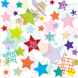 Stars abstract colorful seamless pattern Stock Photos