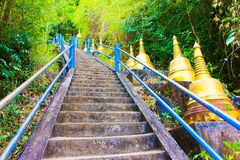 Free Stars And Golden Stupas In Tiger Cave Temple, Wat Tham Suea, Krabi, Thailand Stock Photos - 120661563