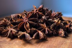 Stars anise bunch close up high quality photo stock image
