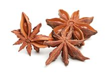 Stars anise isolated on a white background Stock Photography