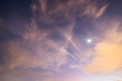 Stars appearing through daylight sky Royalty Free Stock Images
