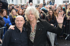 Stars arrive for Band Aid 30 royalty free stock photos