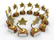 Stars awards illustration Royalty Free Stock Photo