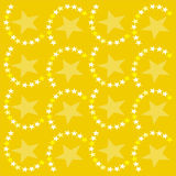 Stars background. Yellow background with stars Royalty Free Illustration