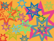 Stars background. Abstract background made from stars on orange background - vector illustration Royalty Free Stock Image