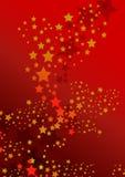Stars on red royalty free illustration