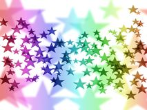 Stars background. Various colorful stars Royalty Free Stock Photos