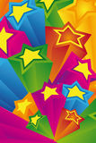 Stars background. Celebratory background from color stars Royalty Free Stock Photos