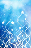 Stars Background. Abstract background blob blue bright celebrate christmas royalty free stock images