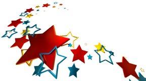 Stars background. Tastefully arranged metallic stars on white background as glory symbol Stock Photo