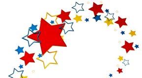 Stars background. Tastefully arranged metallic stars on white background as glory symbol Stock Photography