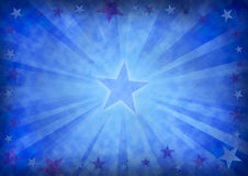 Stars background. Stars on a grunge blue background Stock Photos