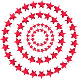 Stars Background. Red stars background with isolated Stock Photos