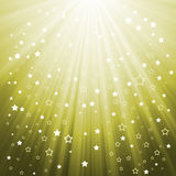 Stars background. Yellow background with the stars of the sun rays Stock Photography