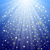 Stars background. Background with stars and sun rays Stock Image