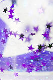 Stars background. An abstract background of a star swirl in a glitter ball Royalty Free Stock Photo