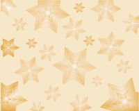 Stars background. Vector illustration of a golden stars background Royalty Free Stock Images