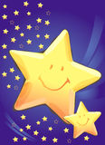 Stars background. Vector illustration of stars, abstract texture for backgrounds Stock Images