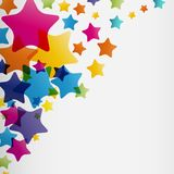 Stars background, abstract design pattern, colorful element Royalty Free Stock Photography