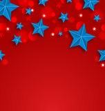 Stars Background for American Holidays, Place for Your Text Stock Photo