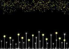 Stars on background Royalty Free Stock Images