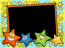Stars background with blackboard Royalty Free Stock Photography