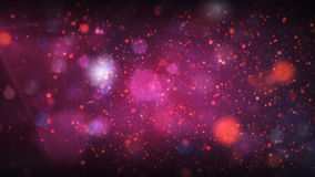 Stars background with Flares in and out of focus. Beautiful particles in purple and red. HD 1080. Loop stock footage
