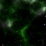 A stars background with green nebula Royalty Free Stock Images