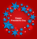 Stars Background for Happy  Presidents Day Stock Image