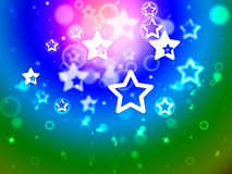 Stars Background Means Star Pattern Or Fantasy Effect Royalty Free Stock Photography