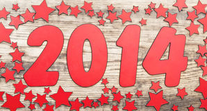 Stars background and number 2014 Stock Photos