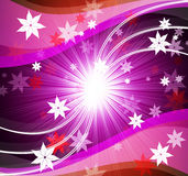 Stars Background Shows Brilliant Swirl And Curvy Lines Royalty Free Stock Images