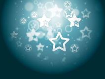 Stars Background Shows Glittery Wallpaper Or Twinkling Stars Royalty Free Stock Photo